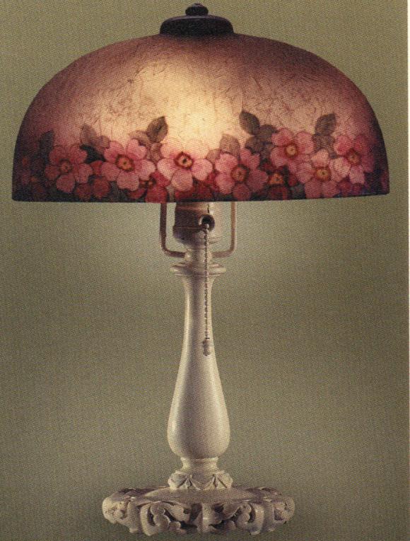 Lamp - Handel - Rose Border Oval Shade
