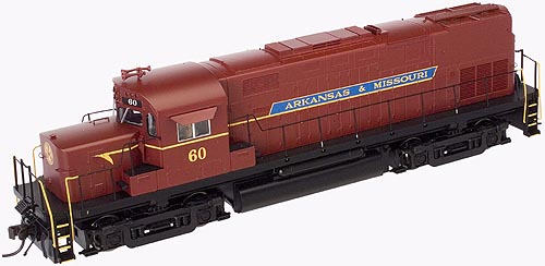 HO Scale - Atlas - 10 000 108 - Locomotive, Diesel, Alco C-420 - Arkansas & Missouri - 60