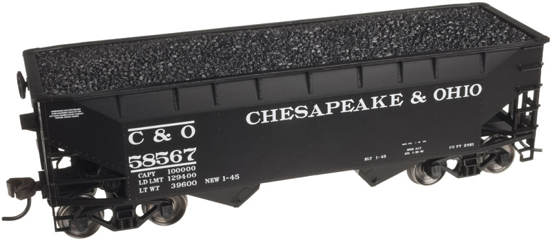 HO Scale - Atlas - 20 002 475 - Open Hopper, 2-Bay, Offset Side - Chesapeake & Ohio - 58567