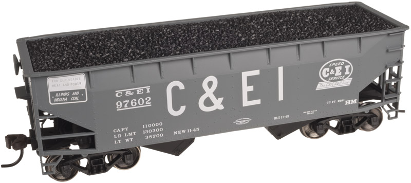 HO Scale - Atlas - 20 002 481 - Open Hopper, 2-Bay, Offset Side - Chicago & Eastern Illinois - 97765