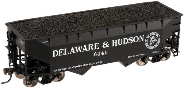 HO Scale - Atlas - 18960 A - Open Hopper, 2-Bay, Offset Side - Delaware & Hudson - 6441