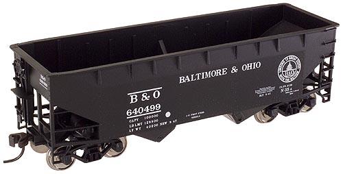 HO Scale - Atlas - 18872A - Open Hopper, 2-Bay, Offset Side - Baltimore & Ohio - 640499