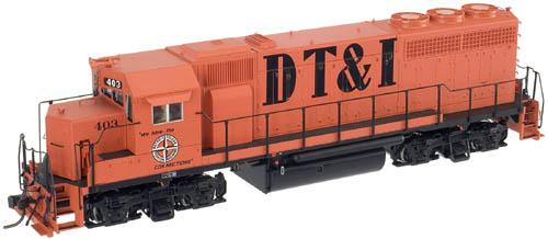HO Scale - Atlas - 10 001 140 - Locomotive, Diesel, EMD GP40 - Detroit Toledo & Ironton - 401