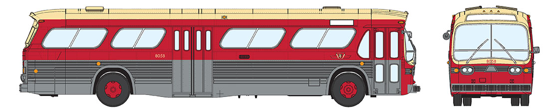 HO Scale - Rapido Trains - 701001 - Bus, GM New Look - TTC - 7798