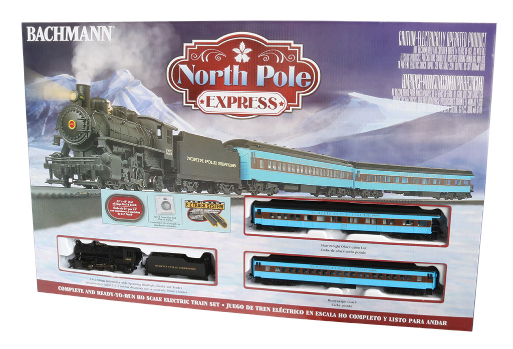 HO Scale - Bachmann - 00751 - Freight Train, Steam, North American, Transition Era - North Pole Express
