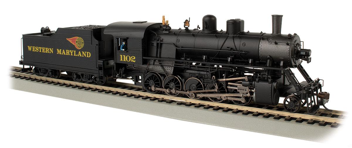HO Scale - Bachmann - 85404 - Locomotive, Steam, 2-10-0 Decapod - Western Maryland - 1102