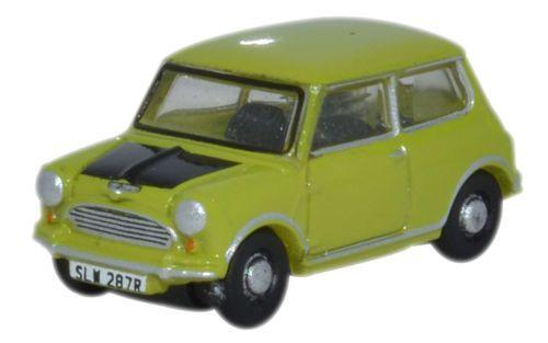 Diecast Metal Vehicles - Oxford Diecast - NMN005 - Lime Green with a matt black hood