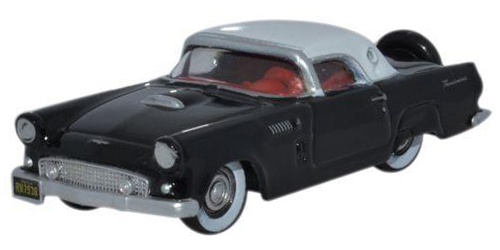 Diecast Metal Vehicles - Oxford Diecast - 87TH56006 - Raven Black with Colonial White Roof