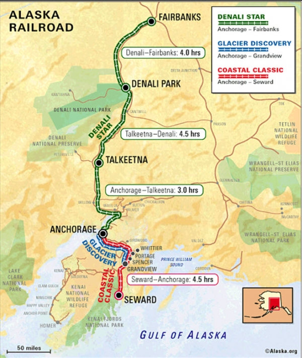 Transportation Company - Alaska Railroad - Railroad