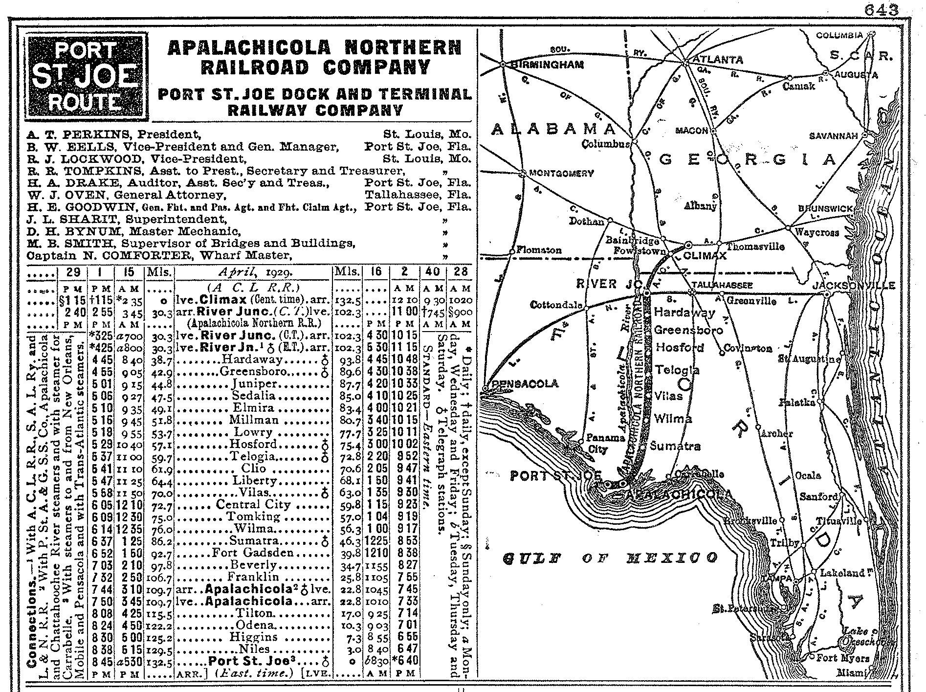 Transportation Company - Apalachicola Northern - Railroad