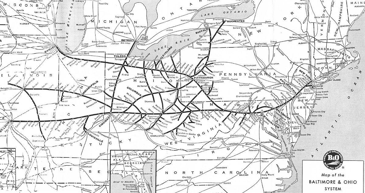Transportation Company - Baltimore & Ohio - Railroad