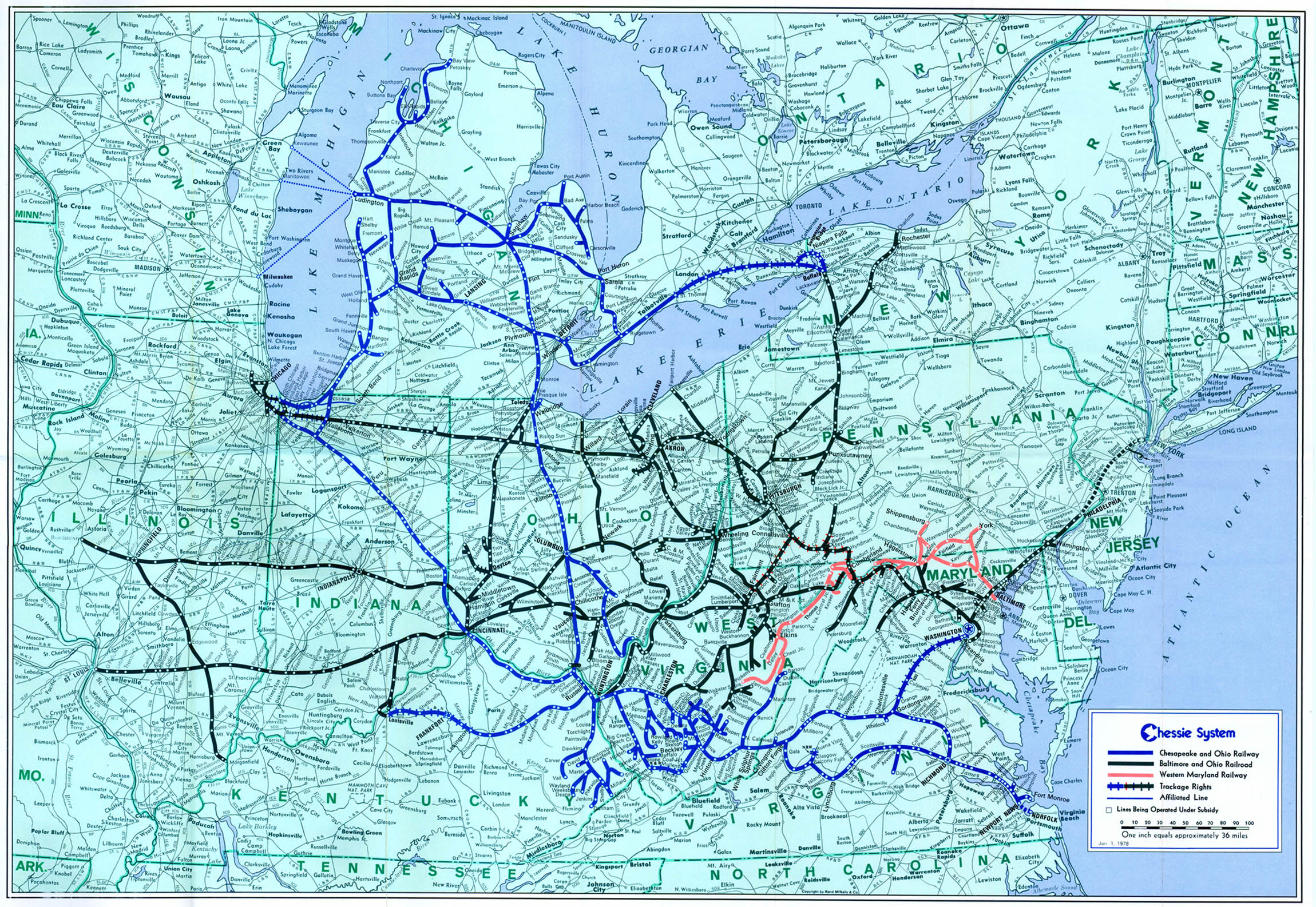 Transportation Company - Chessie System - Railroad