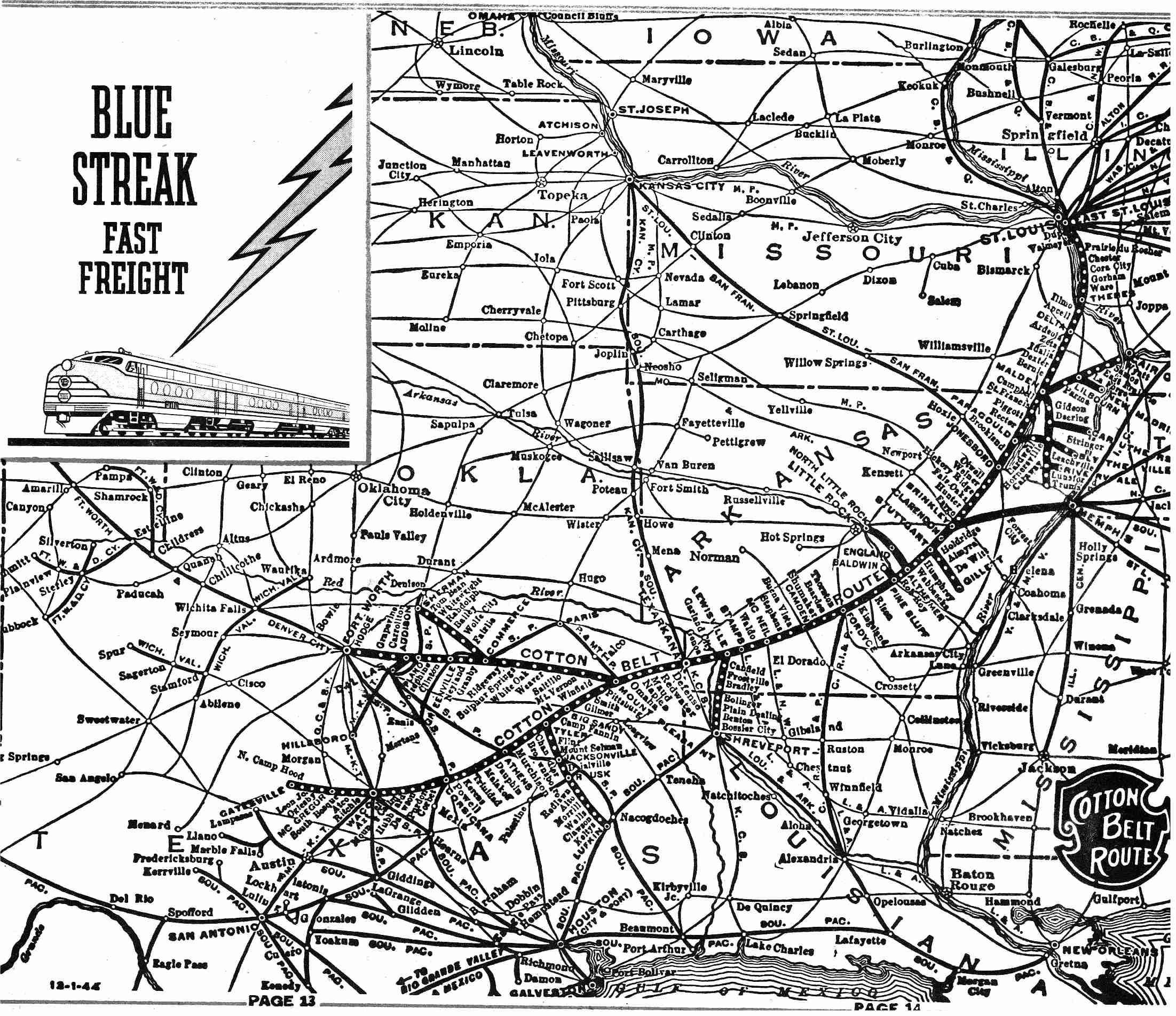 Transportation Company - Cotton Belt - Railroad