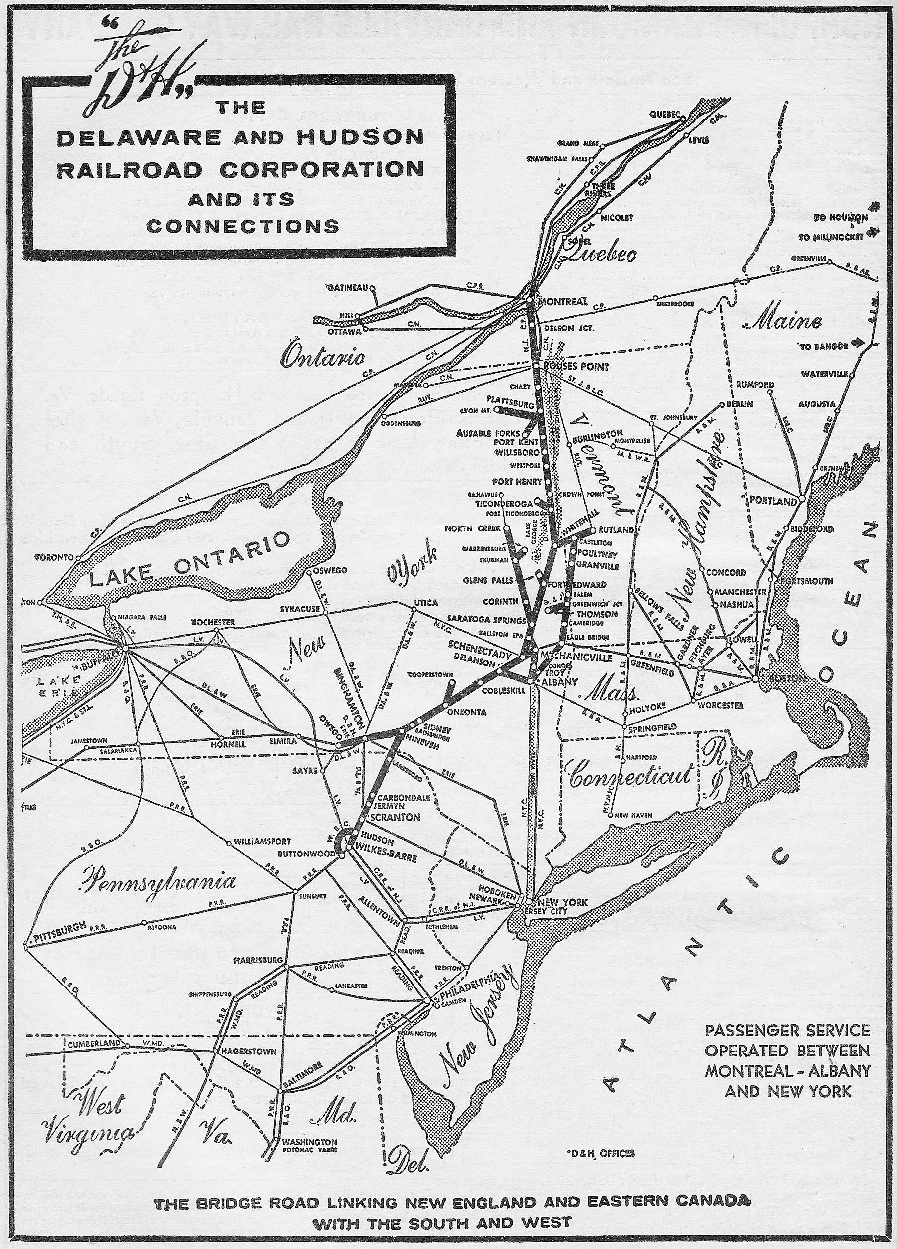 Transportation Company - Delaware & Hudson - Railroad
