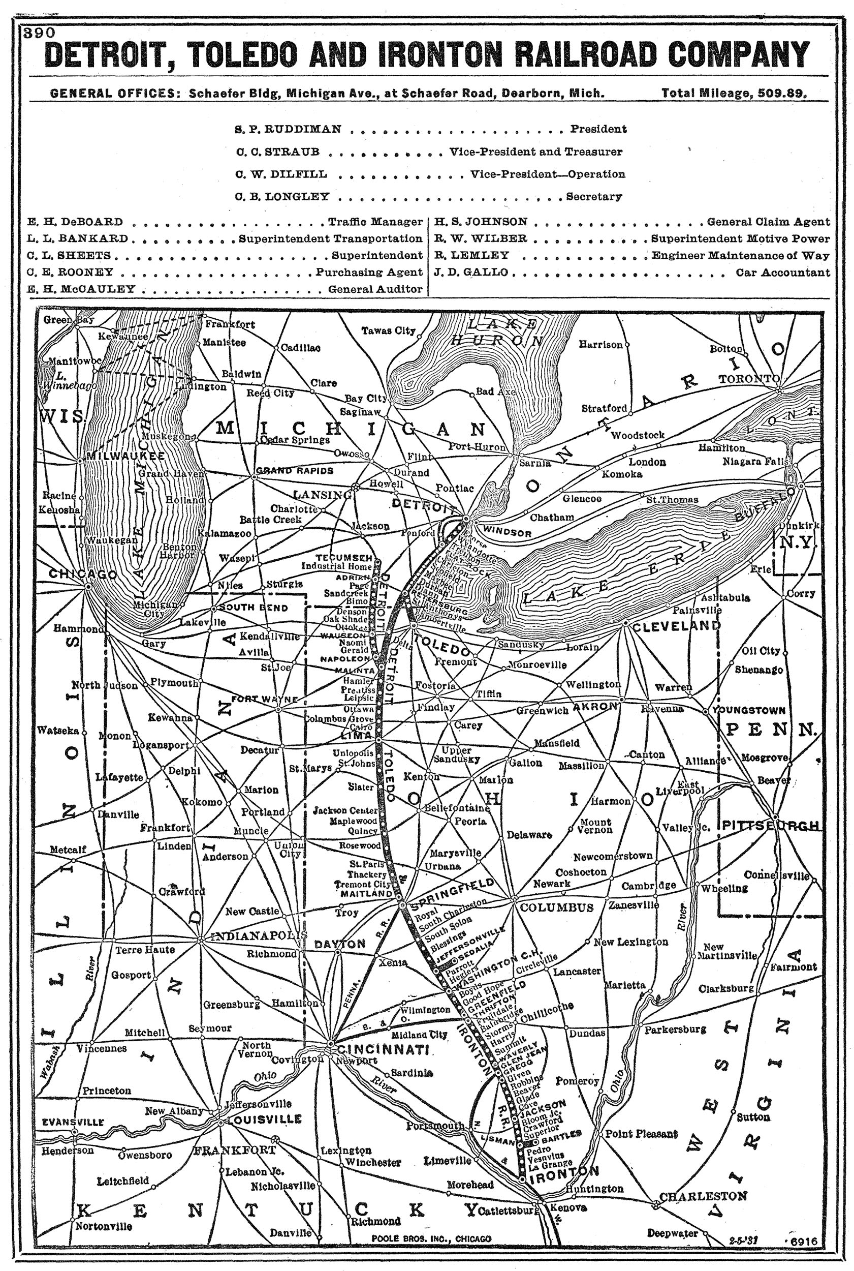 Transportation Company - Detroit Toledo & Ironton - Railroad
