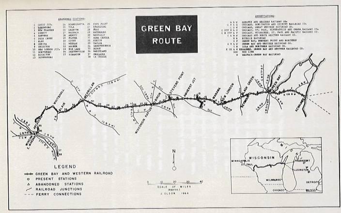 Transportation Company - Green Bay & Western - Railroad