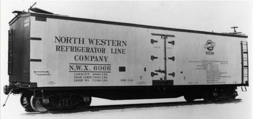 Transportation Company - North Western Refrigerator - Railroad Equipment