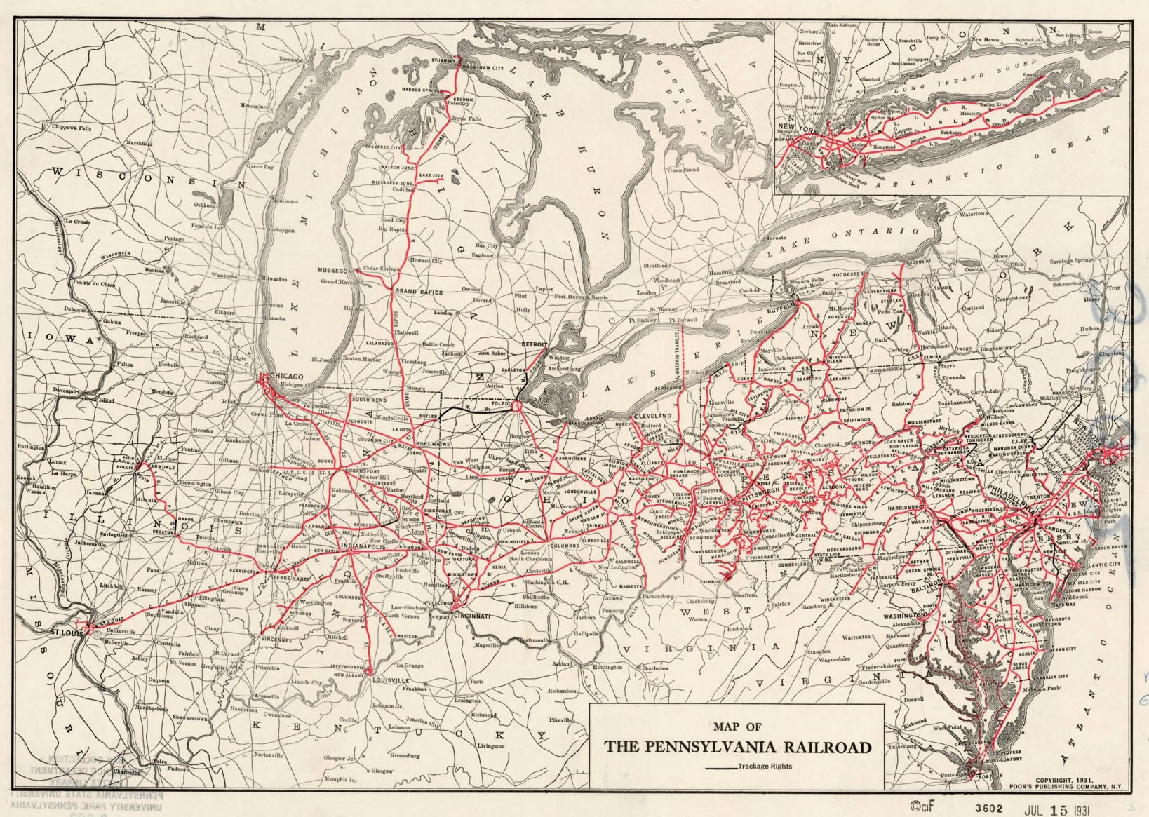 Transportation Company - Pennsylvania - Railroad