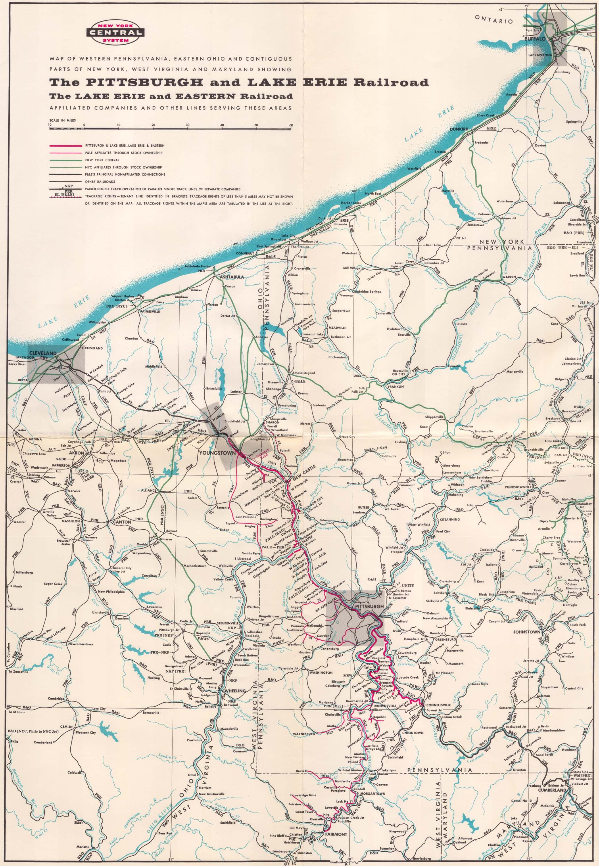 Transportation Company - Pittsburgh & Lake Erie - Railroad
