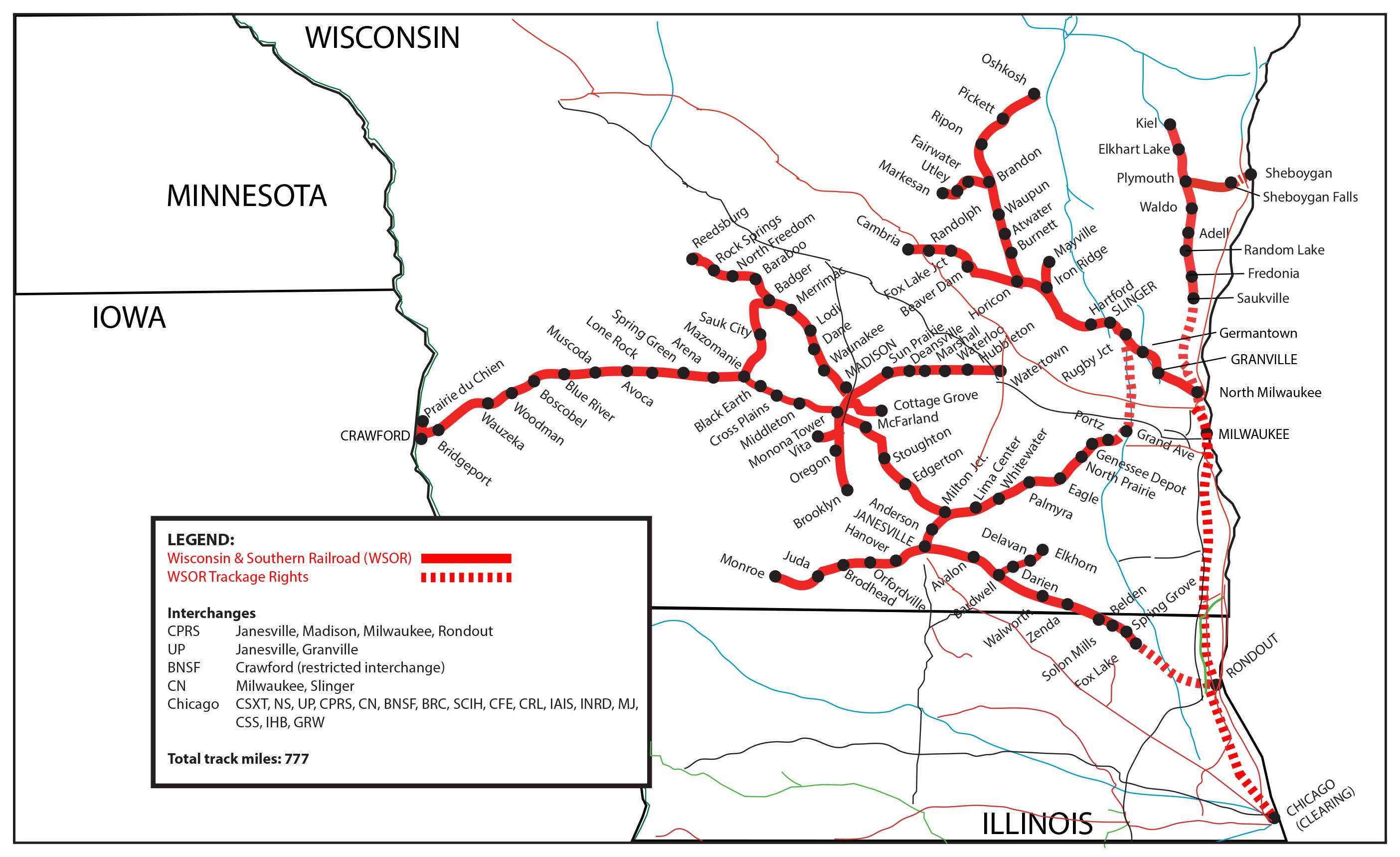 Transportation Company - Wisconsin & Southern - Railroad