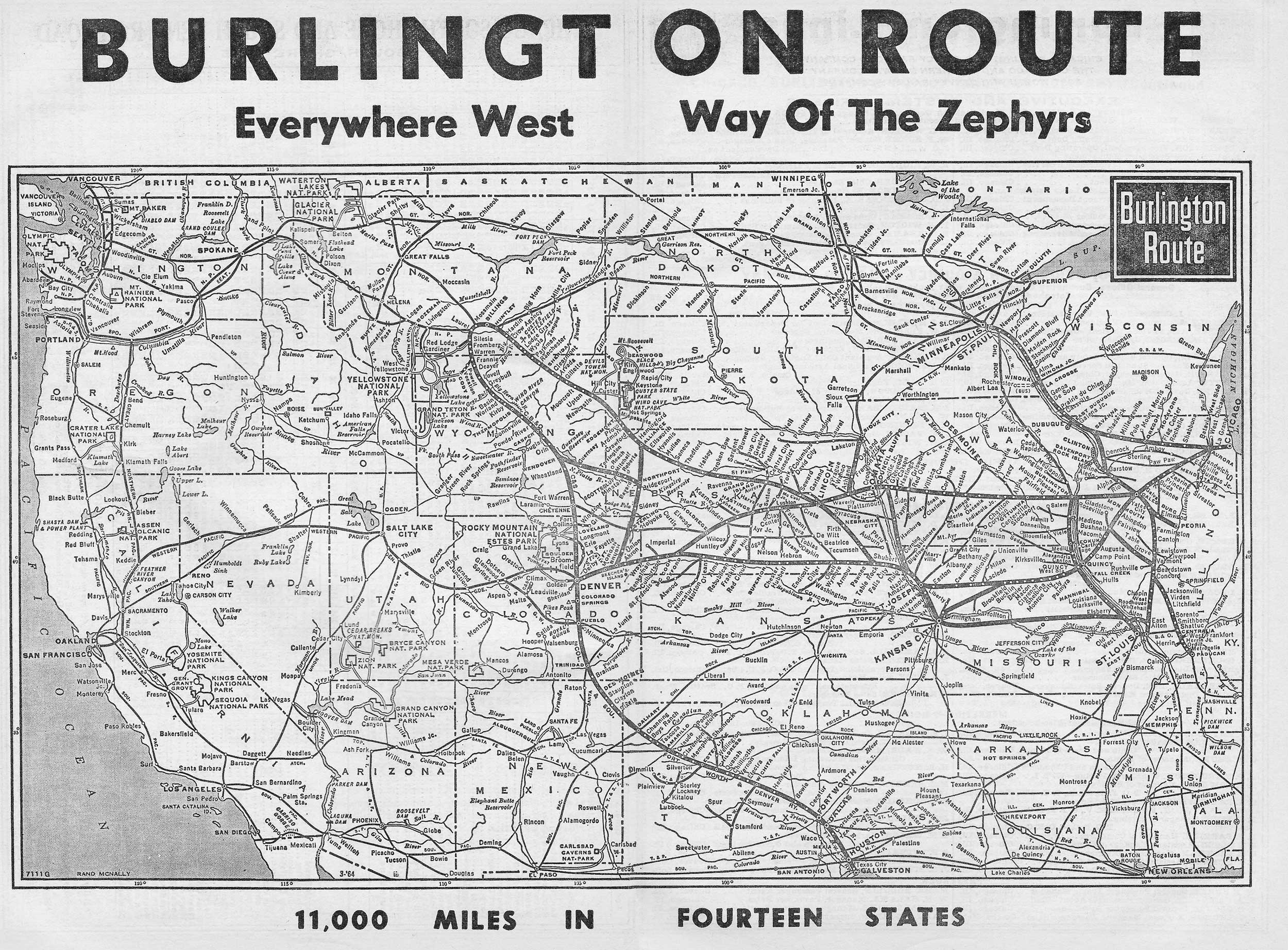 Transportation Company - Burlington Route - Railroad