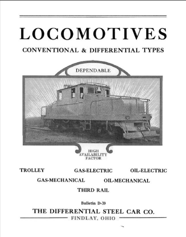 Transportation Company - Differential Car Company (Difco) - Railroad Equipment
