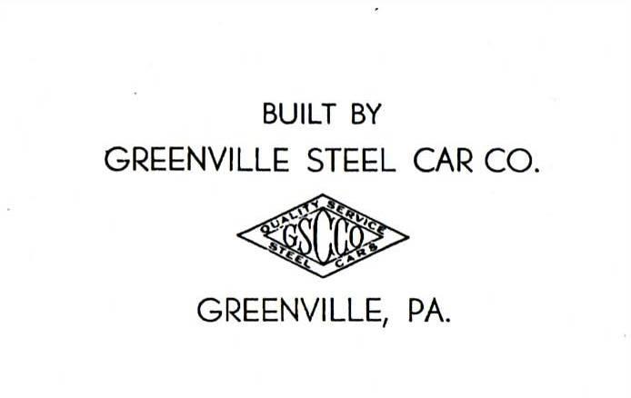 Transportation Company - Greenville Steel Car Company - Railroad Equipment