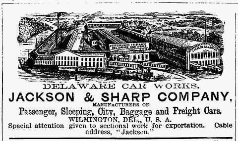 Jackson and Sharp Car Company - Railroad Equipment