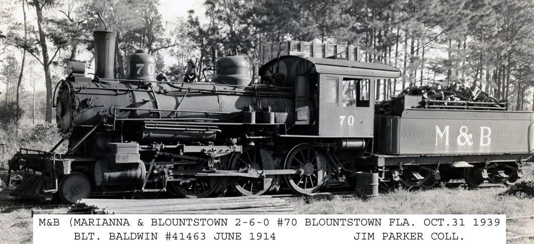 Transportation Company - Marianna & Blountstown - Railroad