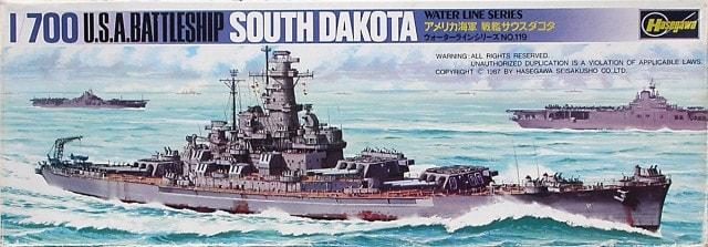 Plastic Models - Hasegawa - 119 - Battleship South Dakota