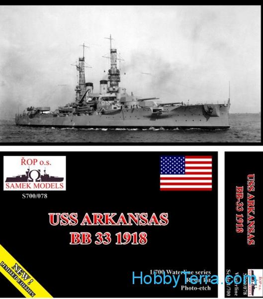 Plastic Models - Samek Models - S700/078 - USS Arkansas