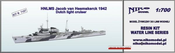 Plastic Models - Niko - 7107 - HNLMS Jacob van Heemskerck