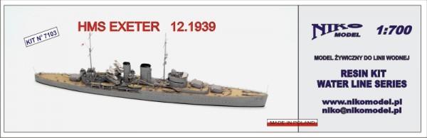 Plastic Models - Niko - 7103 - HMS Exeter