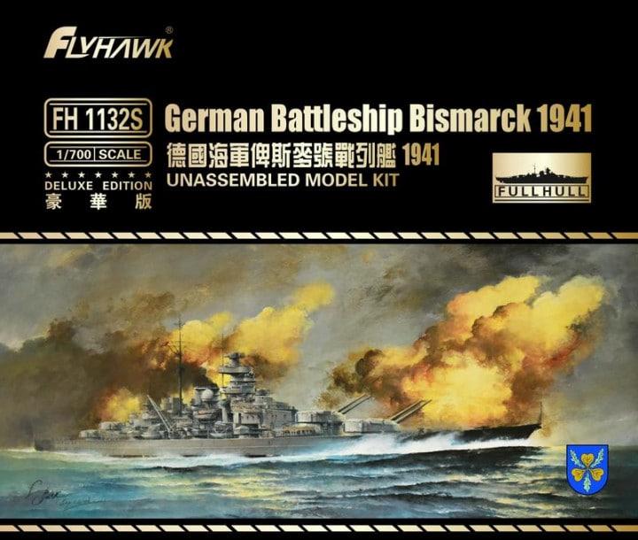 Plastic Models - Flyhawk - 1132S - Battleship Bismarck 1941