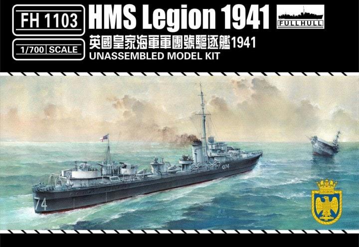 Plastic Models - Flyhawk - 1103 - HMS Legion 1941