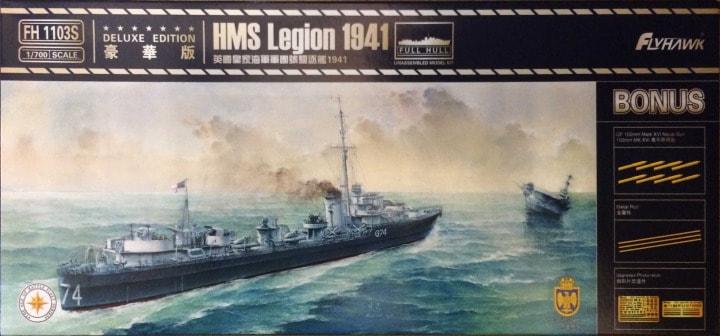 Plastic Models - Flyhawk - 1103S - HMS Legion 1941 Deluxe