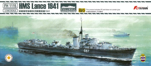 Plastic Models - Flyhawk - 1115 - HMS Lance 1941