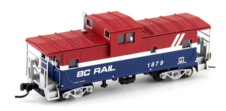 N Scale - Atlas - 30429 - Caboose, Cupola, Steel Extended Vision - Burlington Northern - 154