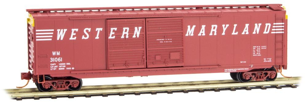 N Scale - Micro-Trains - 34020 - Boxcar, 50 Foot, PS-1 - Penn Central - 174707