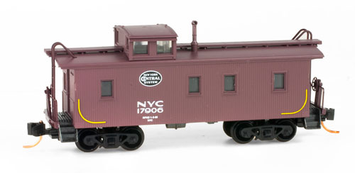 N Scale - Micro-Trains - 051 19 014 - Caboose, Cupola, Wood - Great Northern - X597