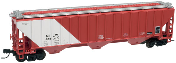 N Scale - The Freight Yard - fy3 - Covered Hopper, 3-Bay, Thrall 4750 - Canadian National - 384520