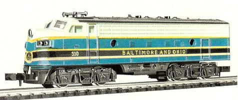 N Scale - Minitrix - 2971 - Locomotive, Diesel, EMD F9 - Pennsylvania - 510