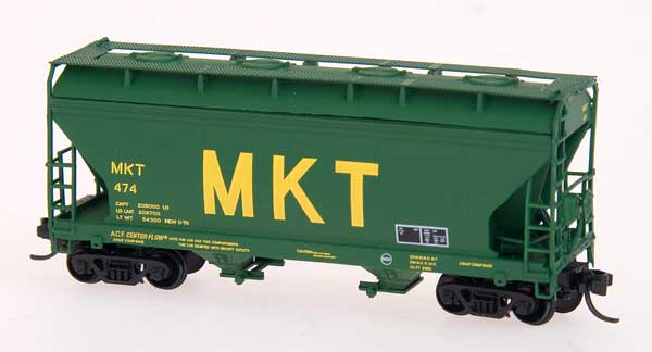 N Scale - Pacific Western Rail Systems - N1065E - Covered Hopper, 2-Bay, ACF Centerflow - Grand Trunk Western - 315081