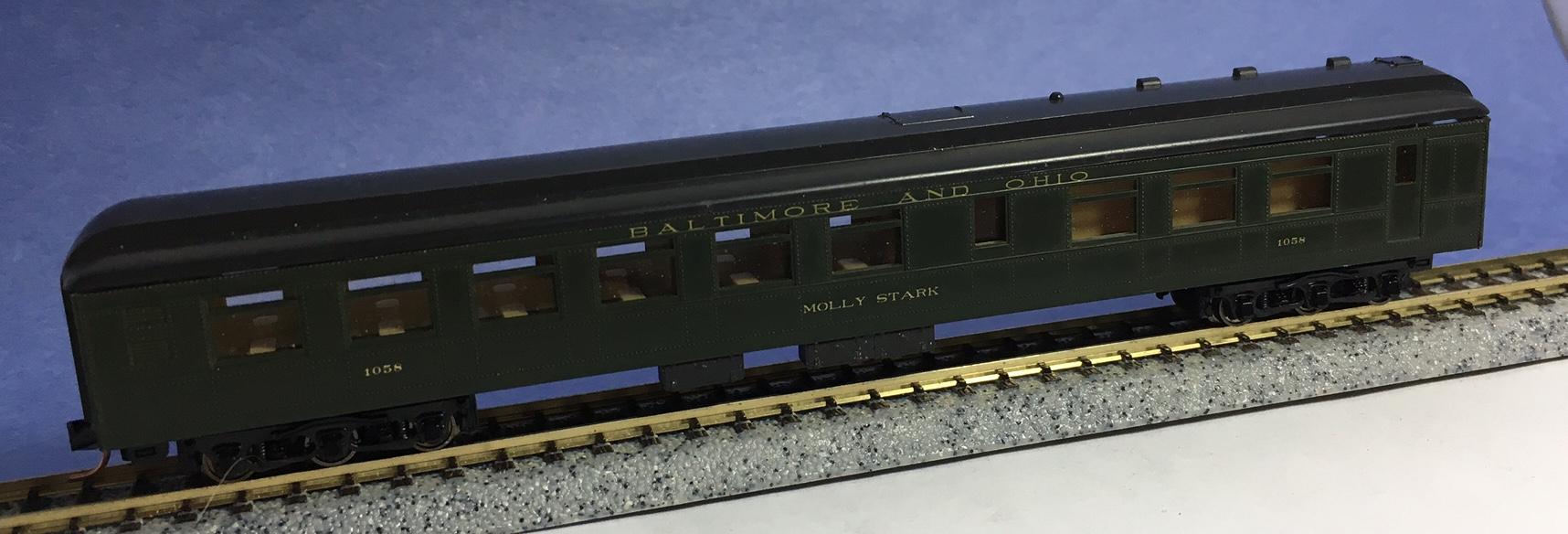 N Scale - Con-Cor - 0003-5221K - Passenger Car, Heavyweight, Diner - Norfolk & Western - 1018