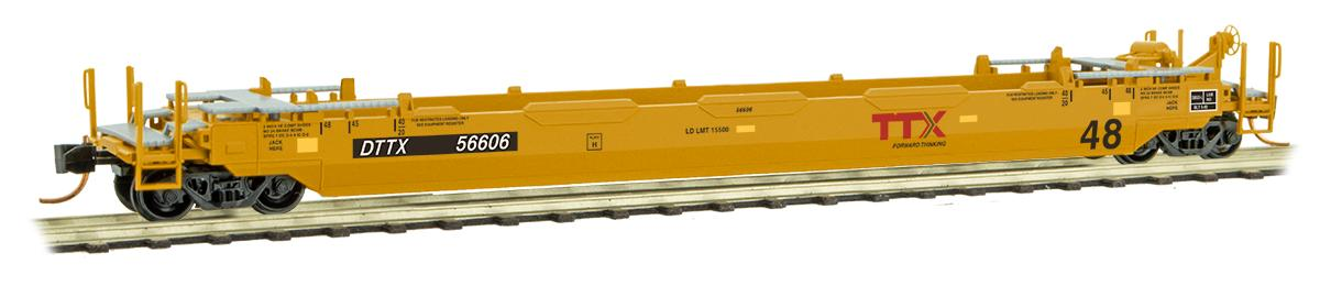 N Scale - Micro-Trains - 135 00 142 - Container Car, Single Well, Gunderson Husky Stack 48 - Santa Fe - 254200B