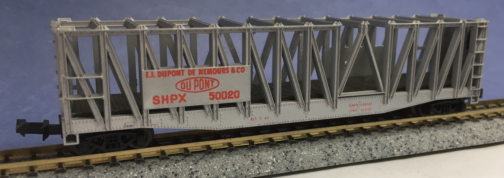 N Scale - Minitrix - 3104 - Container Car, Ortner - Hooker Chemical