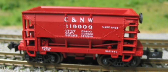 N Scale - Minitrix - 3224 - Open Hopper, Ore, 70 Ton - Great Northern - 95300
