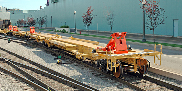 N Scale - Deluxe Innovations - 370304 - Spine Car, 57 Foot, 3-Unit, NSC, NAF30A - Tomahawk Railway