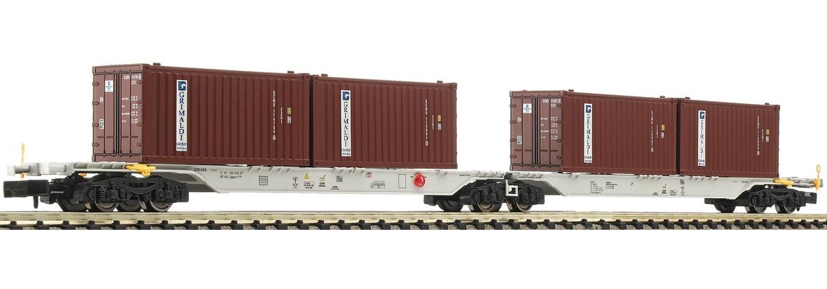 N Scale - Fleischmann - 825317 - Container Double Wagon  - Ahaus Alstätter Eisenbahn - 33 68 495 3 935-6