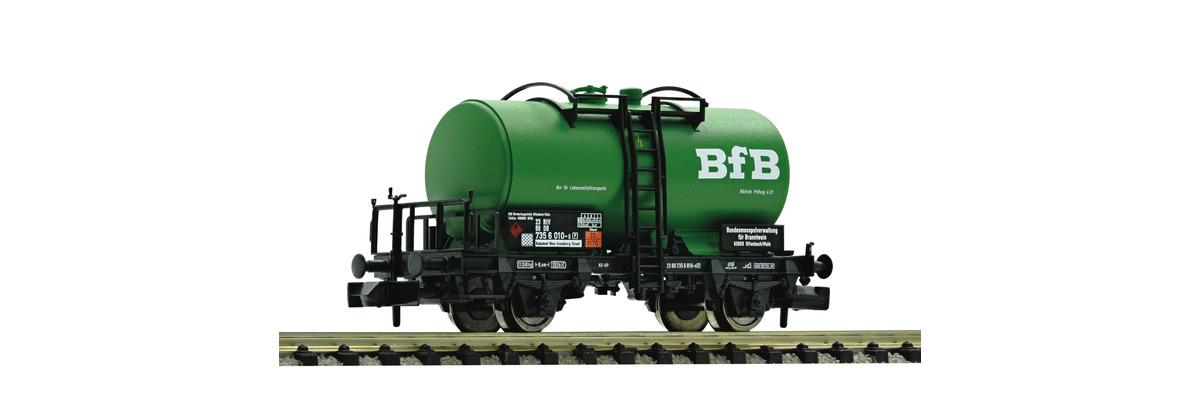 N Scale - Fleischmann - 841005 - Tank Car, No Dome, 2-Axle - Deutsche Bundesbahn - 21 80 002 1 509-3